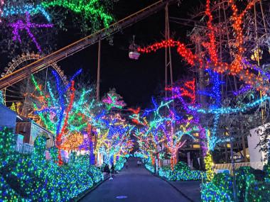 Courants d'Air, YOMIURI LAND LE PLUS GRAND PARC D'ATTRACTIONS DE TOKYO S'ILLUMINE DE MILLIONS DE LUMIERE